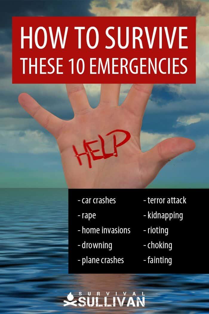 surviving 10 emergencies Pinterest image