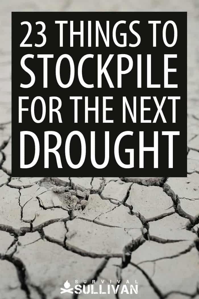 drought stockpiling items Pinterest image