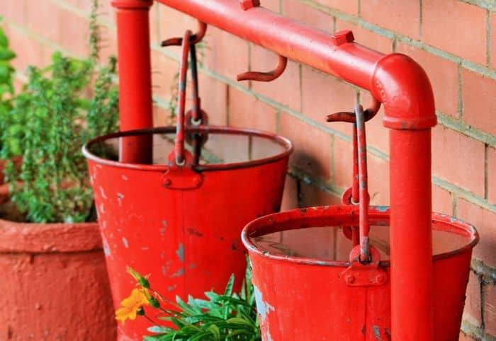 house fire buckets