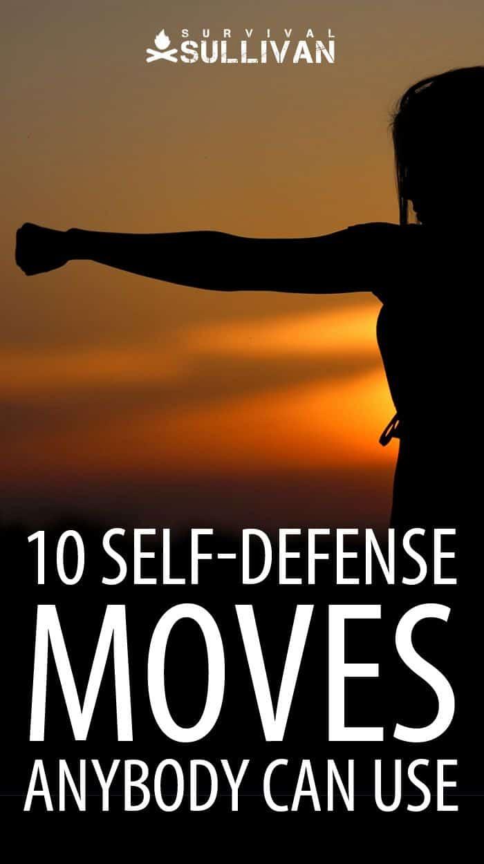 self-defense moves Pinterest image