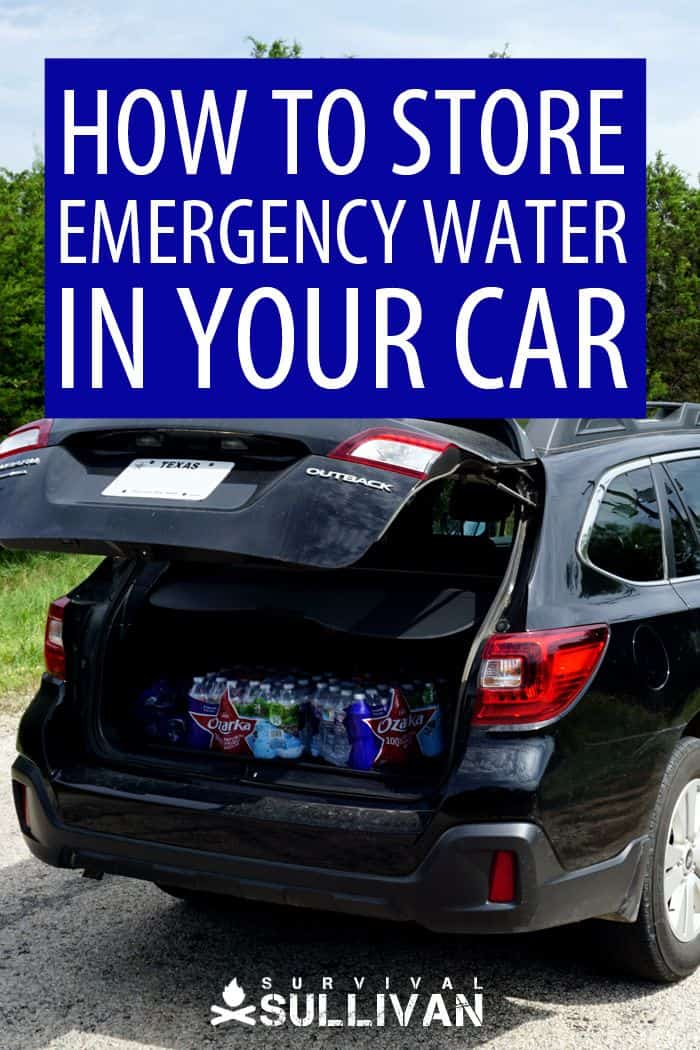 storing emergency water Pinterest image