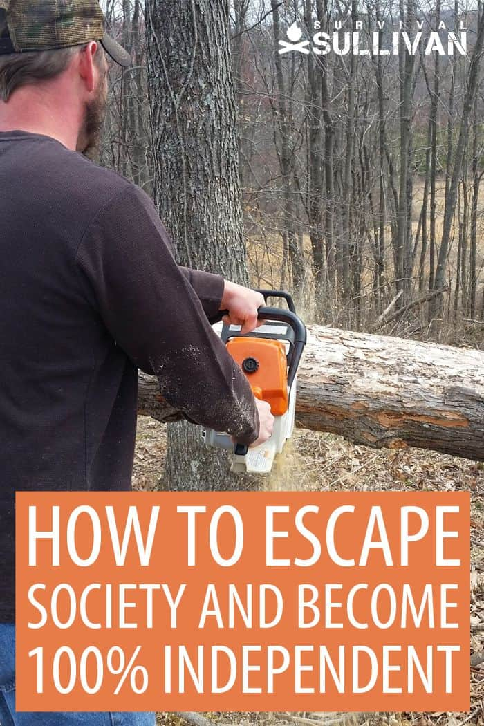 escaping society Pinterest image