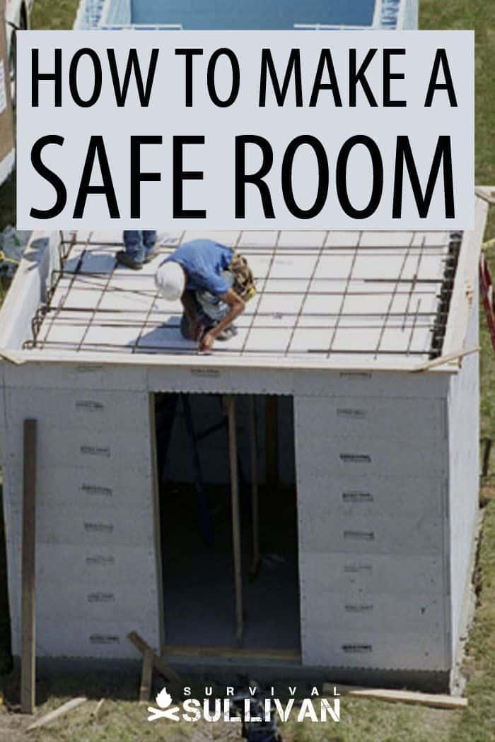 making a safe room Pinterest image