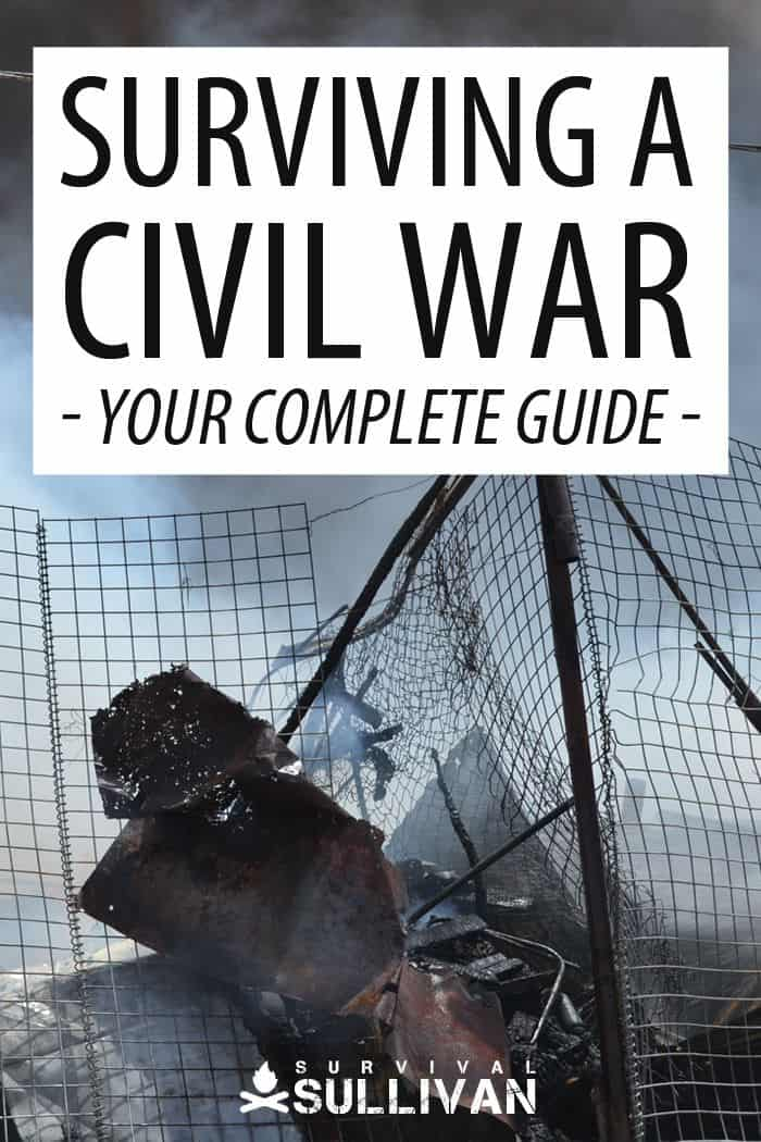 surviving a civil war Pinterest image
