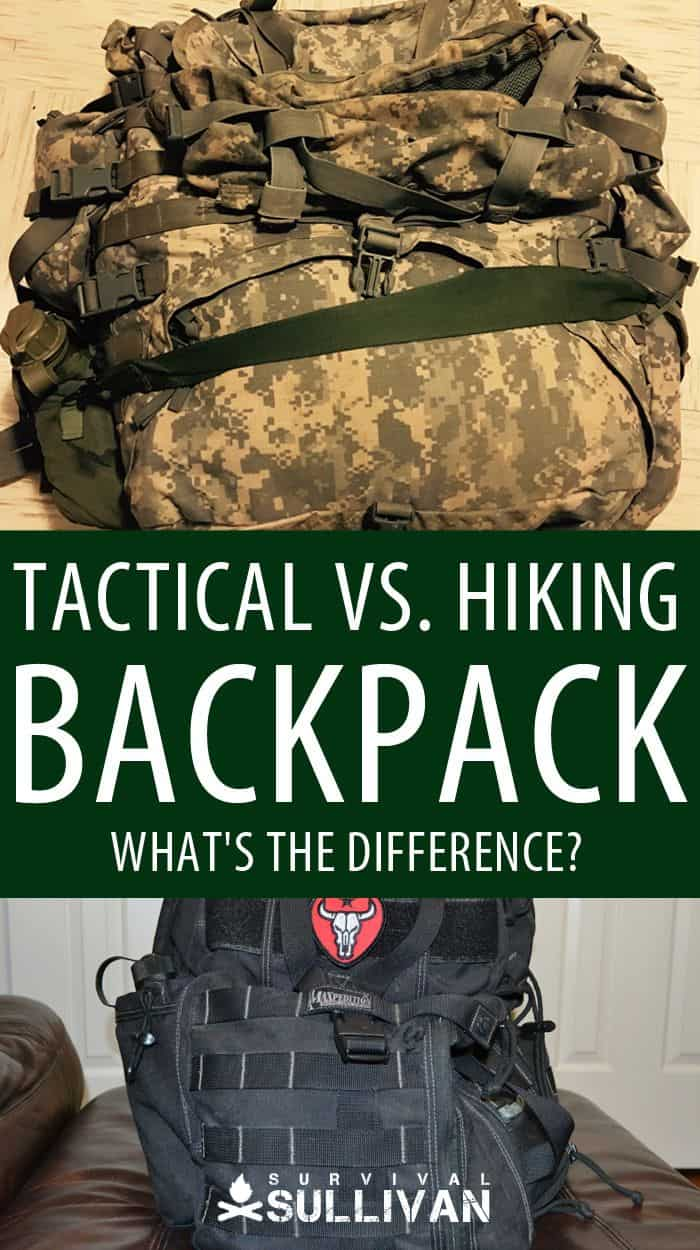hiking vs tactical backpack pinterest image