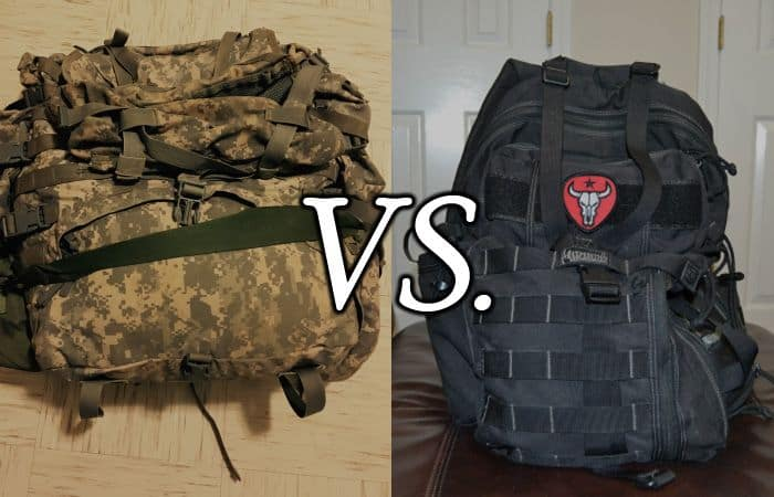 tactical vs hiking backpack