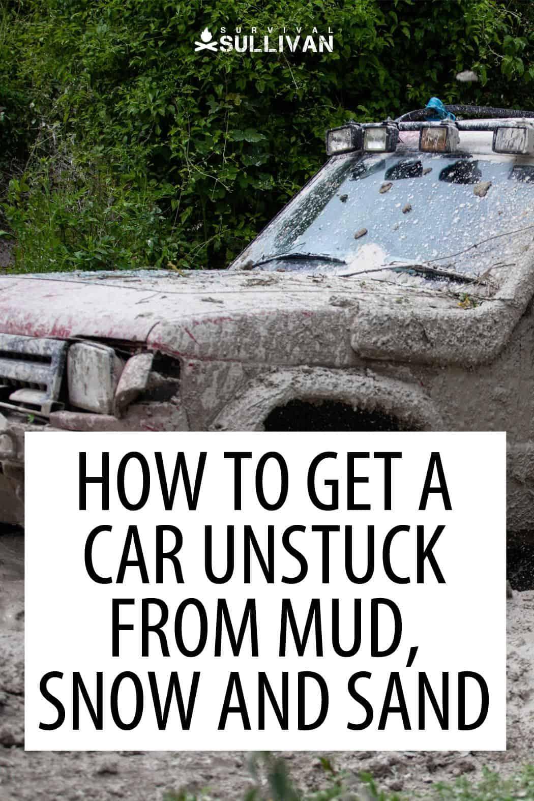 getting car unstuck Pinterest image