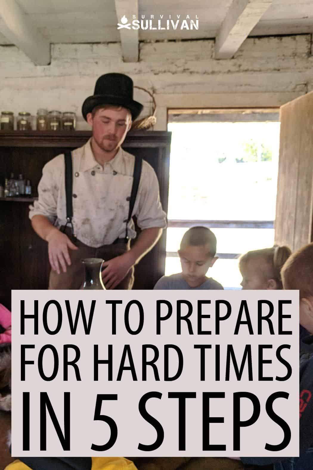 prepping for hard times Pinterest image