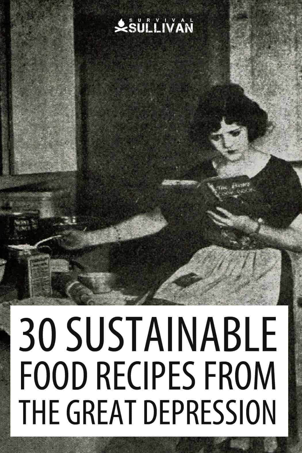Great Depression recipes Pinterest image