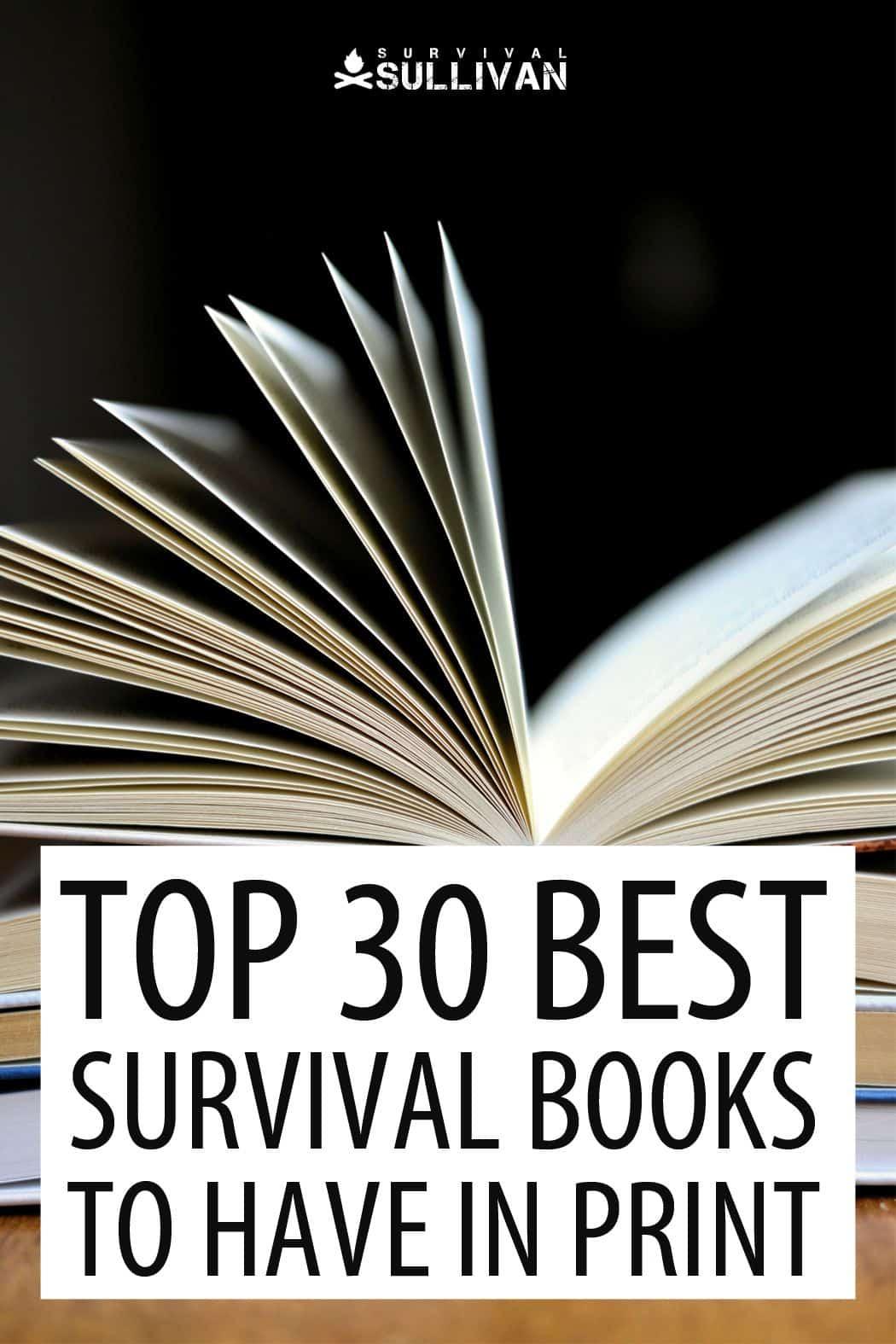 survival books Pinterest image