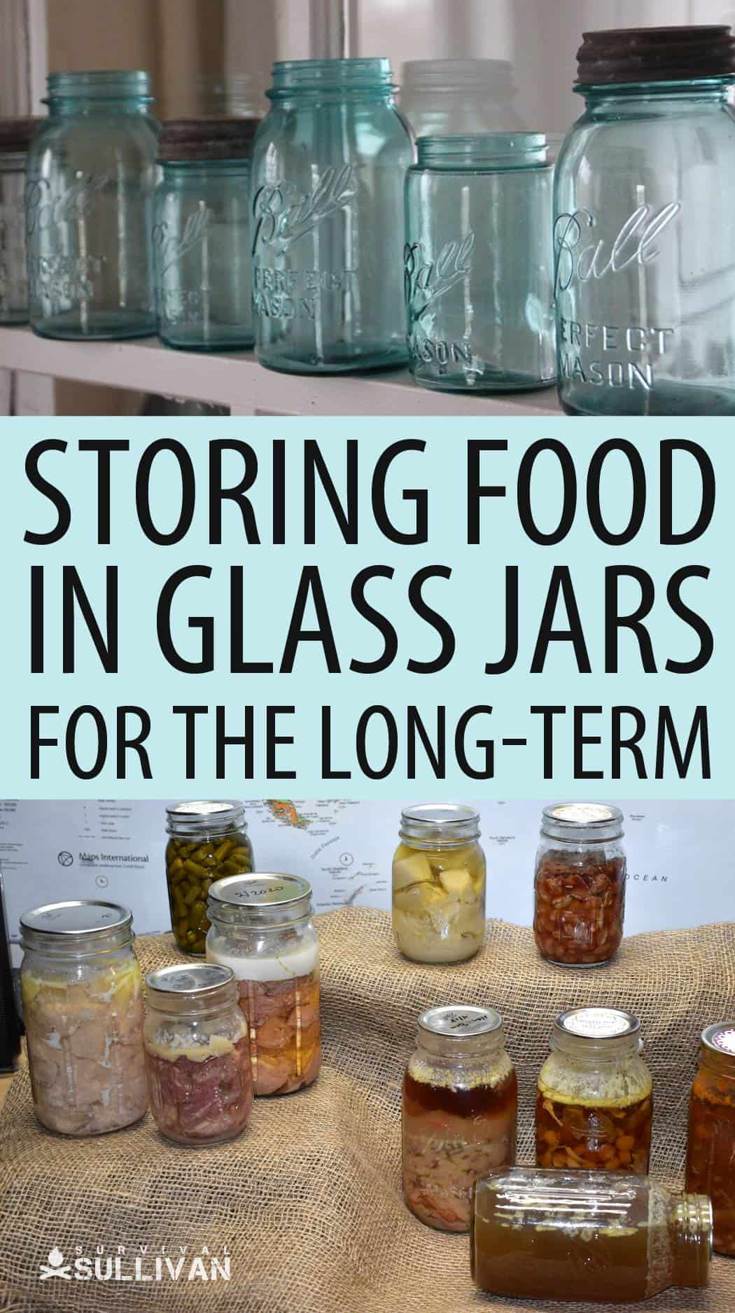 glass jars pinterest image