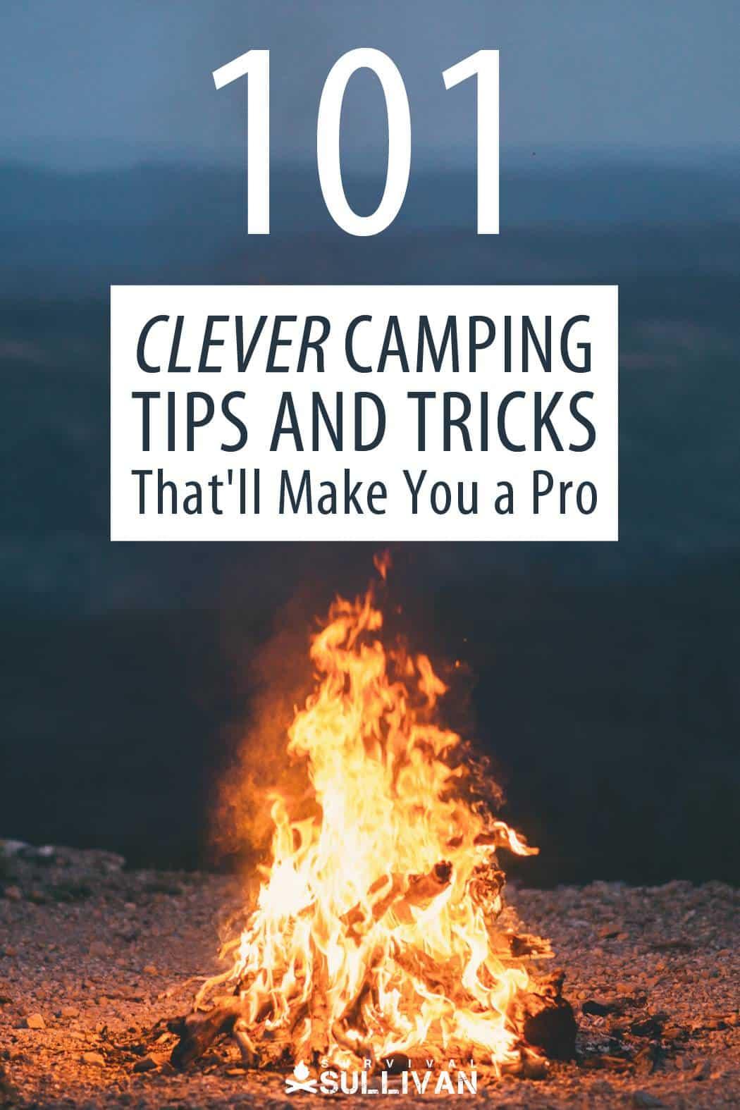 camping tips Pinterest image
