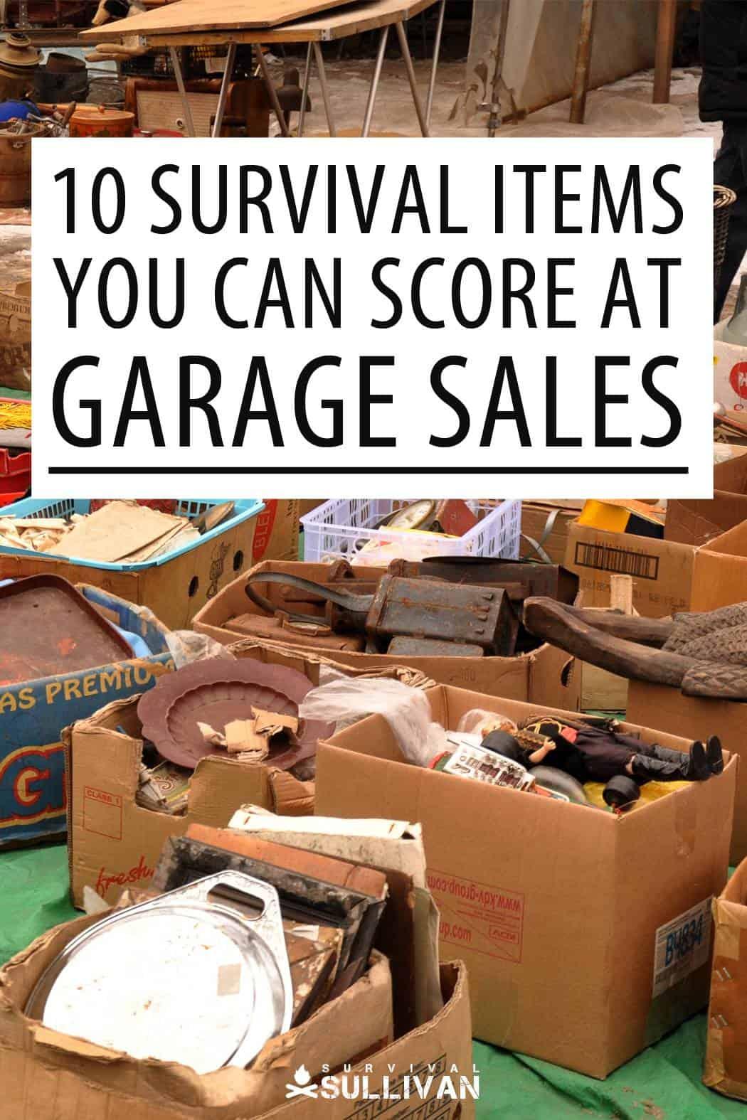 garage sales gear Pinterest image