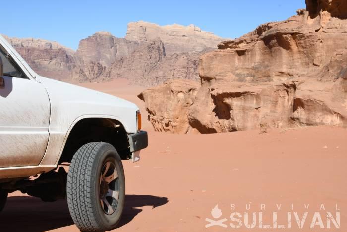 pickup truck in desert