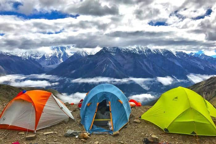 tents on mountain