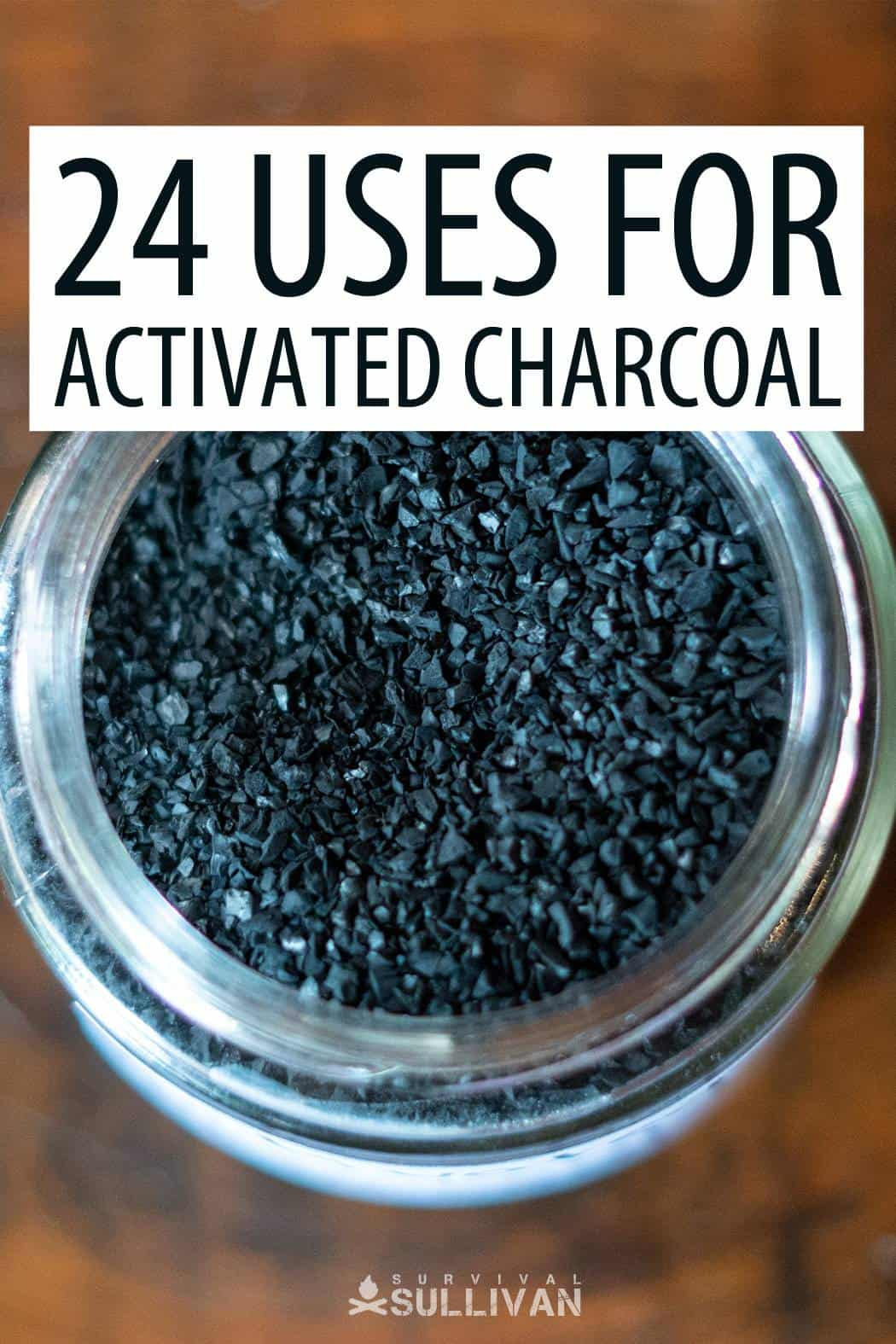 activated charcoal uses Pinterest image