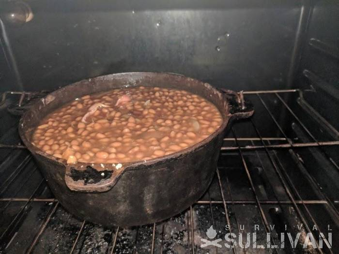 baked-beans-cooking-in-cast-iron