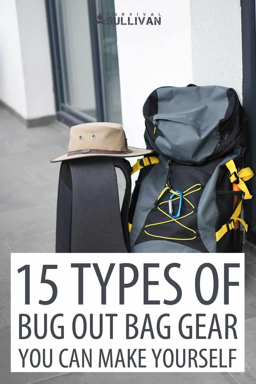 bug out bag DIY gear Pinterest image