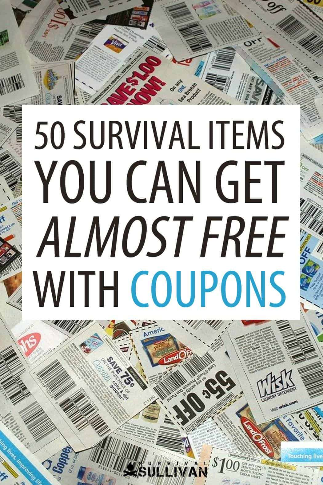 survival couponing Pinterest image