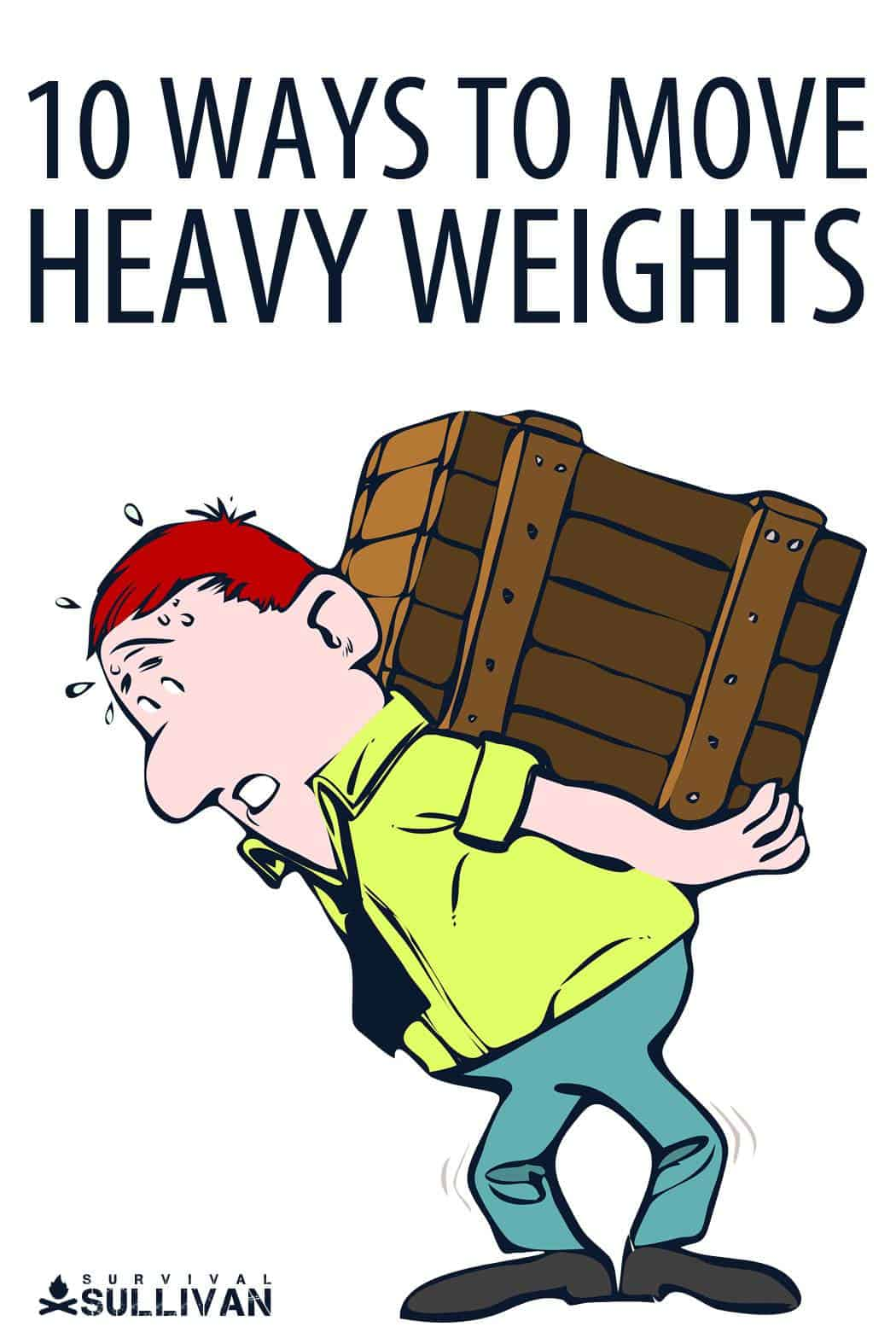 moving heavy weights Pinterest image