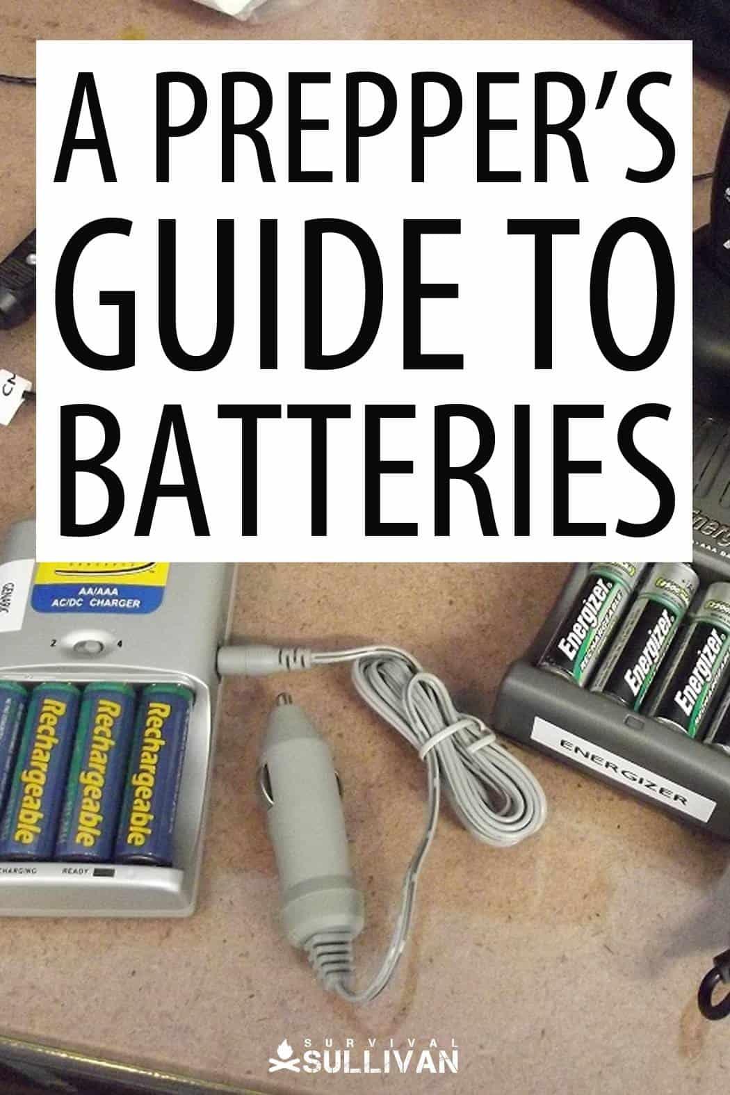 prepper batteries Pinterest image