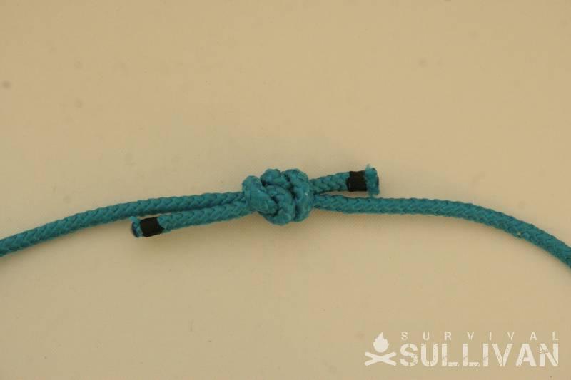 single fisherman bend knot