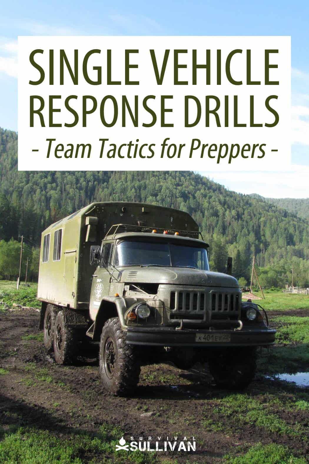 single vehicle response drills Pinterest image