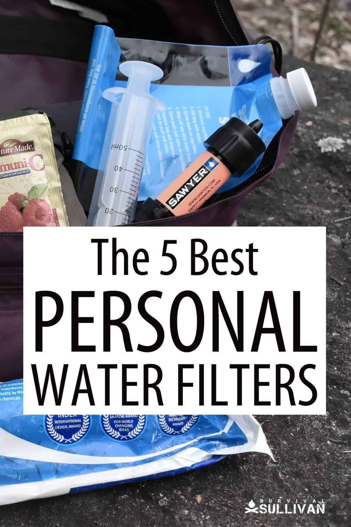 best personal water filters Pinterest image