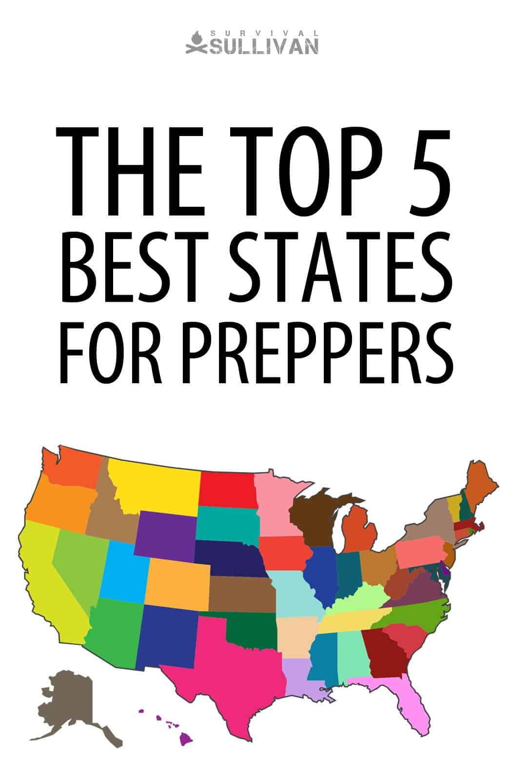 best prepper states Pinterest image
