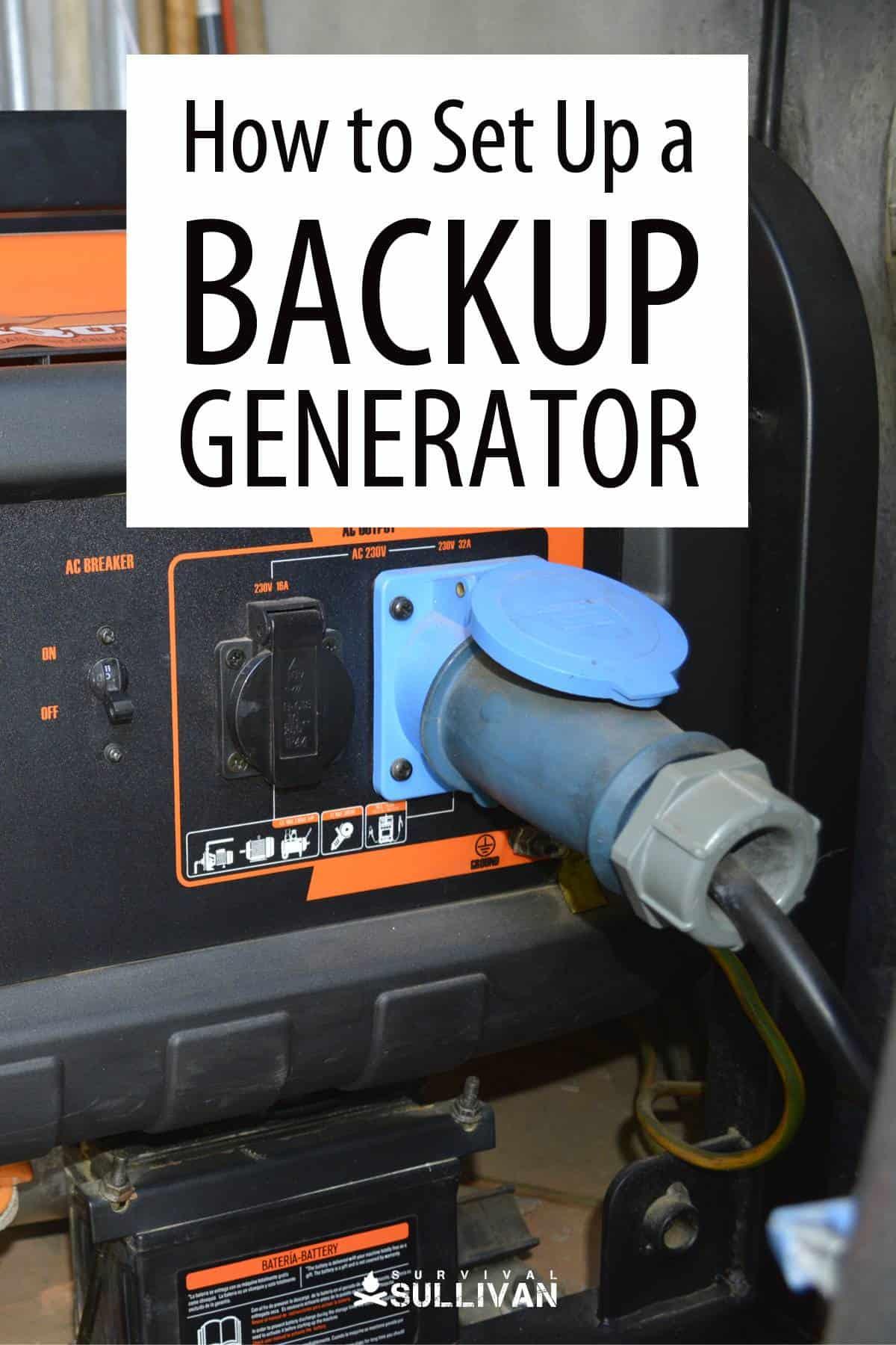 generator setup Pinterest image