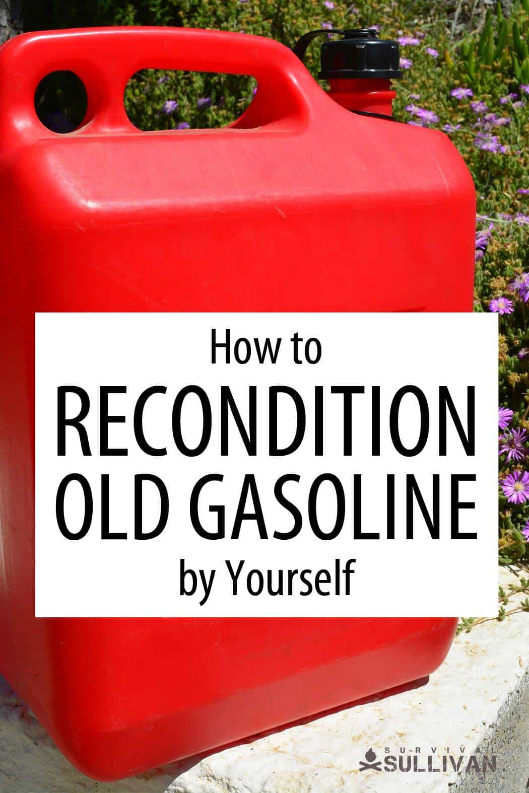reconditioning gasoline Pinterest image