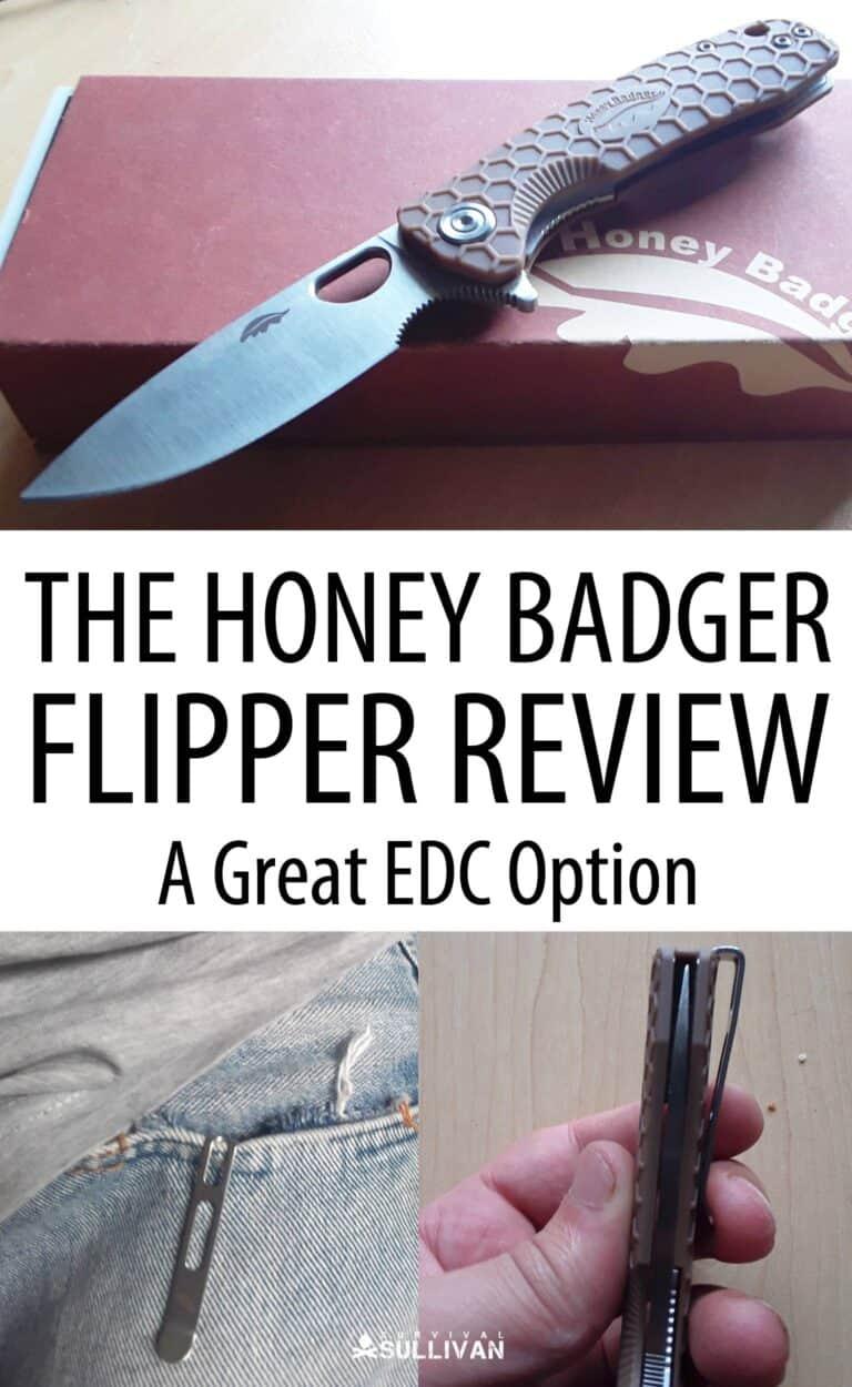 honey badger flipper Pinterest image