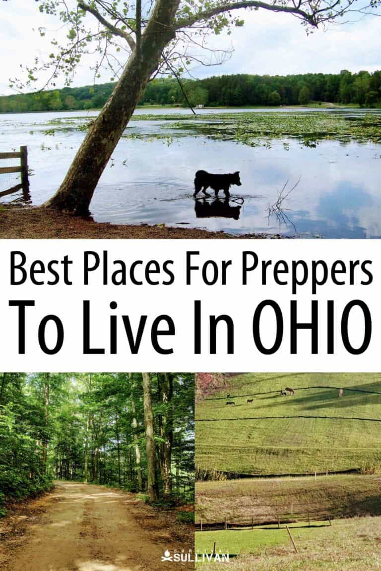 Ohio places for preppers Pinterest image
