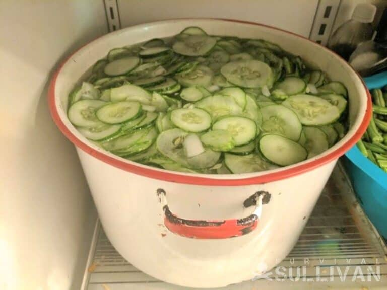 soaking cucumbers in lime and water mixture
